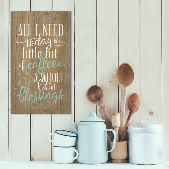 Wood Wall Decor Farmhouse Coffee And Blessings Wall Art