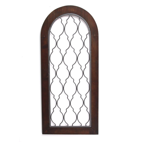 Natural Wood Handcrafted, Italian Style Gate Wall Art