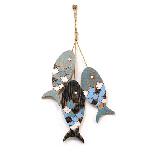 Rustic Wooden Fish Wall Decor Handmade Nautical theme