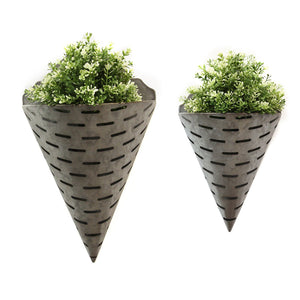 Metal Bucket Wall Planters Set of 2