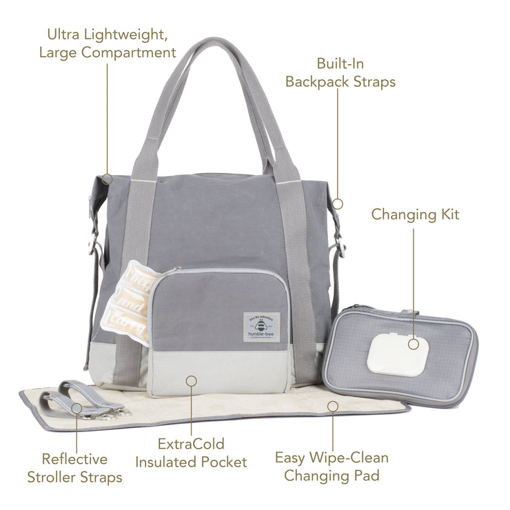 All Heart Diaper Bag with $40 Accessory Bundle Included