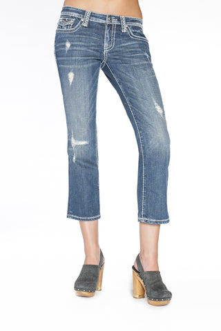ADRIANNA CAPRI IN REFRESH - Anoname women jeans denim