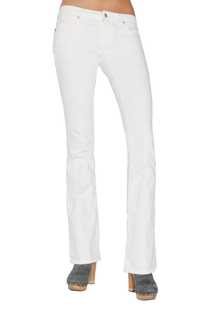 JOELLE BOOTCUT IN WHITE - Anoname women jeans denim