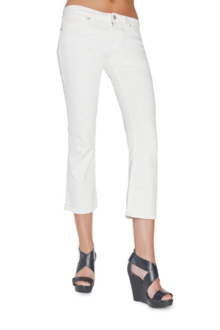 LUCY CURVY CAPRI IN WHITE - Anoname women jeans denim