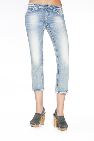 ADRIANNA CAPRI IN TRUE BLUE - Anoname women jeans denim