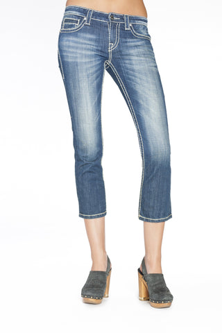 ADRIANNA CAPRI IN HERMOSA - Anoname women jeans denim
