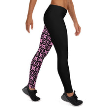 Pink and black Leggings style
