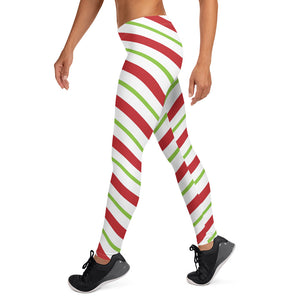 Christmas Candy Cane Leggings
