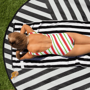 Christmas candy cane One-Piece Swimsuit