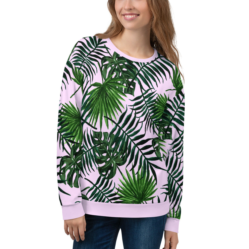 Tropical Greenleaves Sweatshirt