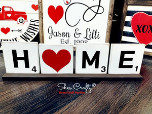 LOVE/HOME Reversible Tile Sign
