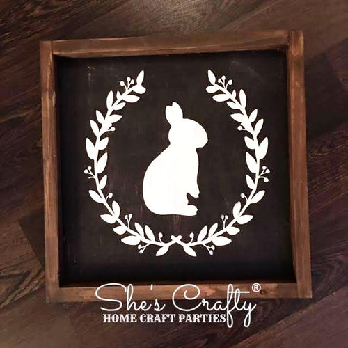 Rustic Bunny Silhouette Kit