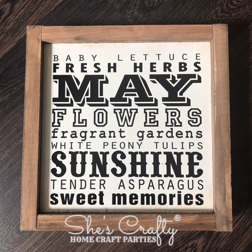 Monthly Mini May Subway Art Kit