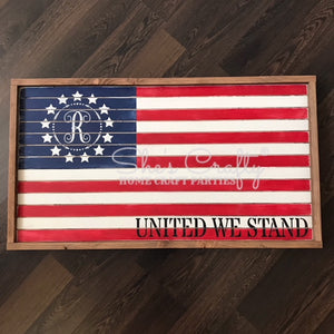 Vintage Flag Monogram Kit