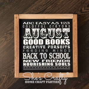 Monthly Mini August Subway Art Kit