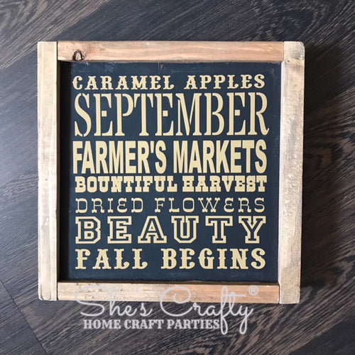 Monthly Mini September Subway Art Kit