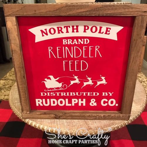 Reindeer Feed Co. Sign