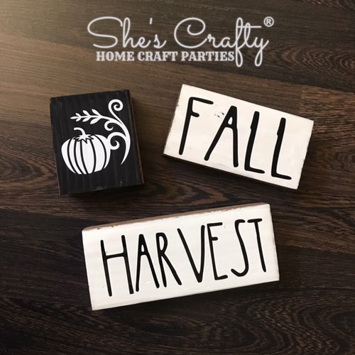Pumpkin, Harvest, Fall Blocks Trio Kit
