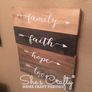 Family, Faith, Hope, Love Arrows Kit