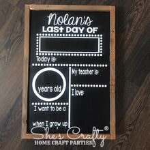 First/Last Day of School Reversible Sign Kit