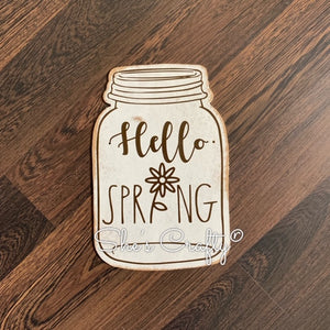 Happy Spring Mason Jar Shape Kit