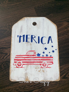 'Merica Vintage Truck Door Tag Kit