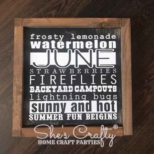 Monthly Mini June Subway Art Kit