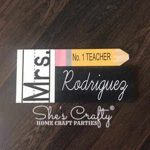 Teacher Name Pencil Blocks