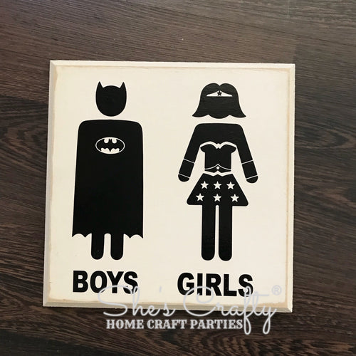 Boys Girls Superhero Silhouettes Kit