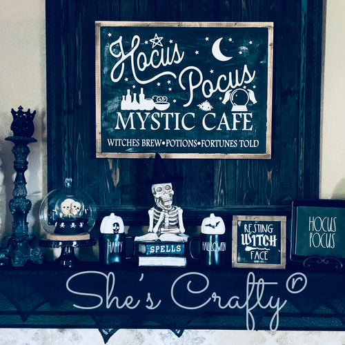 Hocus Pocus Mystic Cafe Sign
