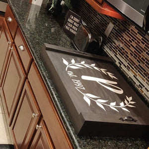 Monogram Noodle Board Stove Top Cover w/ Risers Kit
