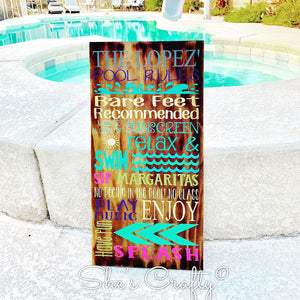 Family Pool Rules Kit