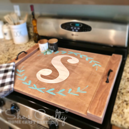 Monogram Noodle Board Stove Top Cover Tray Kit