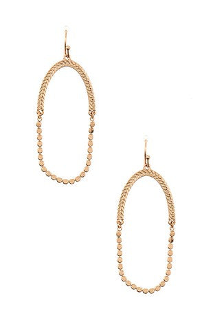 Chain Detail Drop Earring
