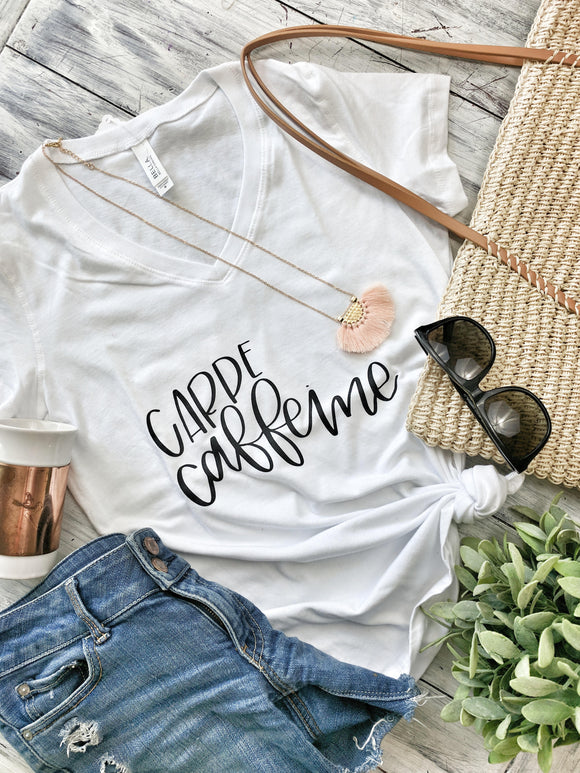 Carpe Caffeine T-Shirt - Terra Cottage