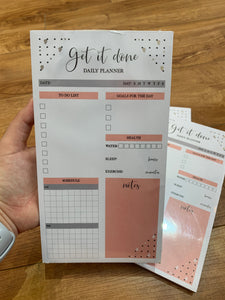 Get It Done Daily Planner Notepad - Terra Cottage