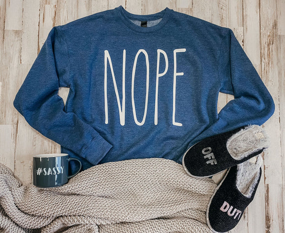 NOPE (Heather Denim) Sweatshirt