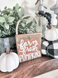Mini Farm Fresh Pumpkins Sign - Terra Cottage