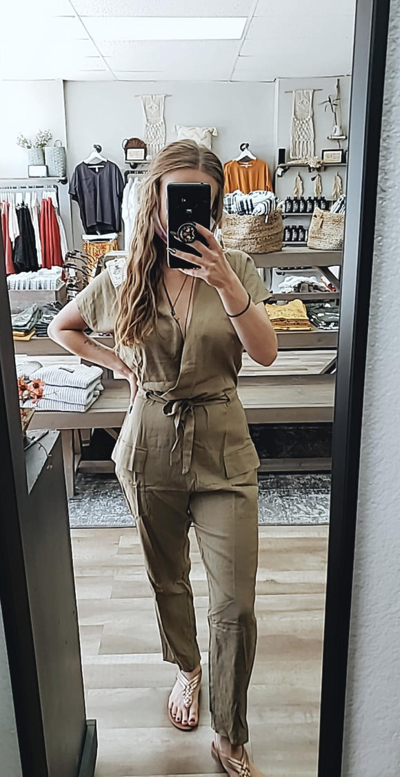 Muted Olive Jumpsuit