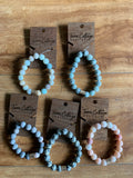 Peach and Mint Stone Bracelet - Terra Cottage