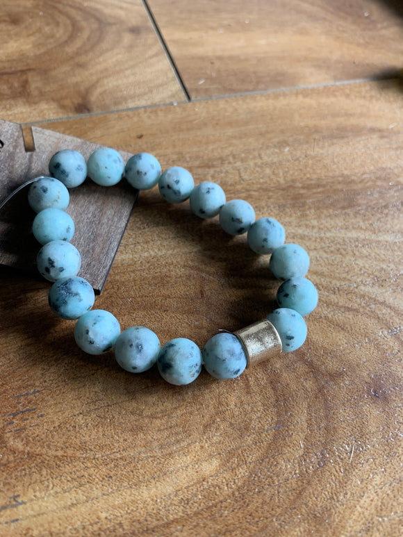 Jade Colored Stone Bracelet - Terra Cottage