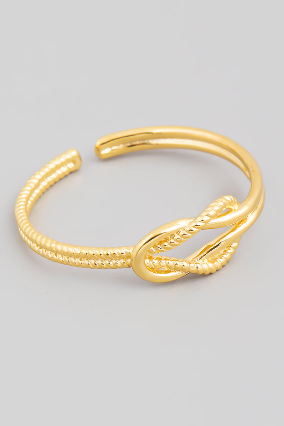 Gold Metallic Knot Minimalist Ring
