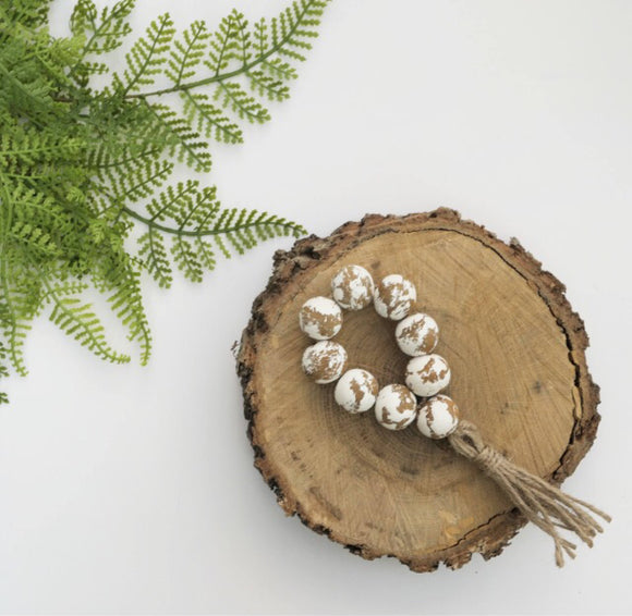 Chippy  Bead Mini Loop/ Ornament/ Napkin Ring - Terra Cottage