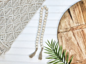 All Natural Beaded Garland With Tassels