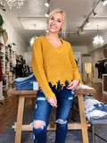 Distressed Marigold Sweater