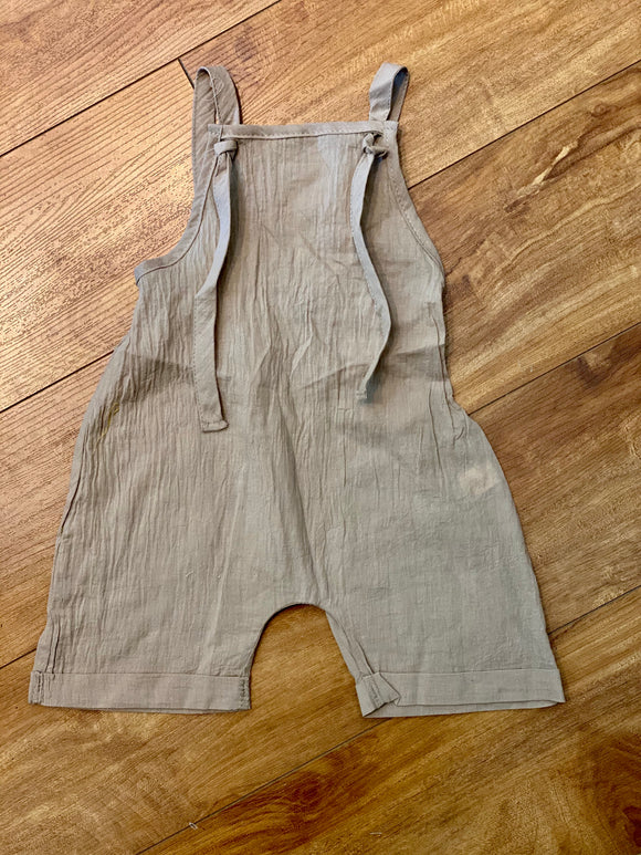 Pull On Beige Romper - Terra Cottage