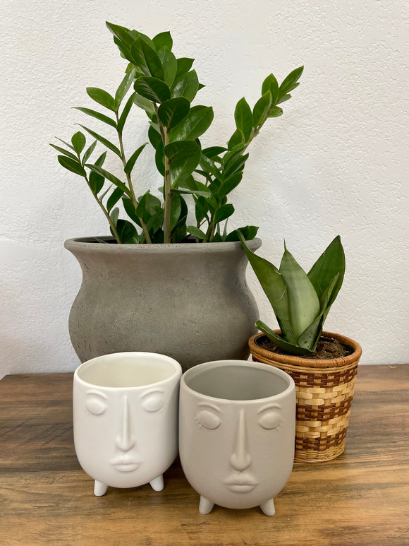 Modern Footed Face Planter
