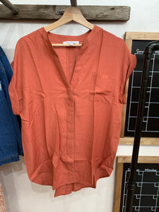 Modern Rust Collar Top