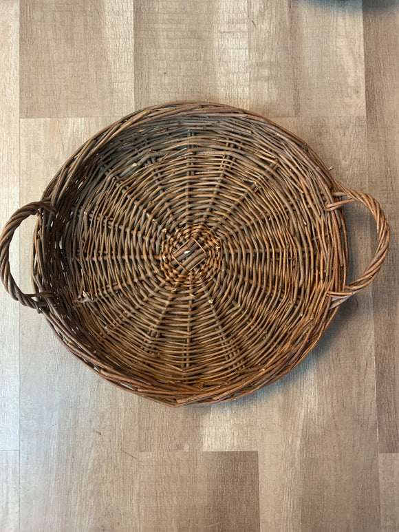 Large Round Willow Tray