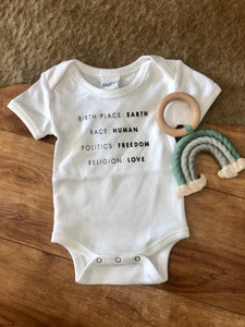 Birth Place Baby Onesie